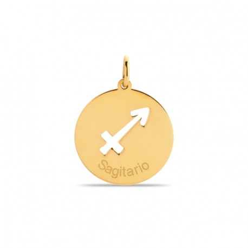 Colgante de oro 9 KT símbolo del signo sagitario