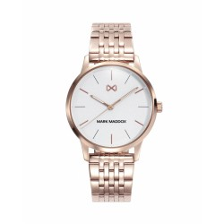 Reloj Mark Maddox MM2005-17 para mujer con correa de acero y esfera gris, 5 ATM