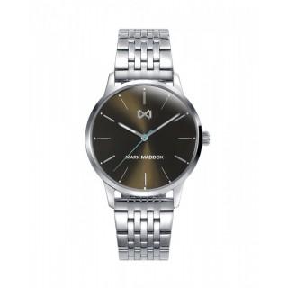 Relógio Mark Maddox MM2005-57 para mulher com pulseira de aço e mostrador cinza