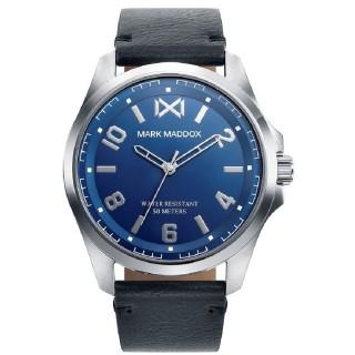 Relógio Mark Maddox Mission HC0105-35 para homem de poliuretano preto, 5 ATM