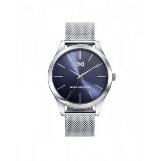 Relógio Mark Maddox Marais HM7119-37 para homem com pulseira milanesa e mostrador azul, 5 ATM