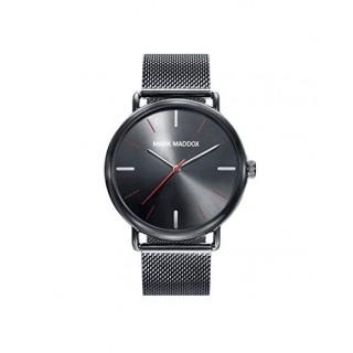 Relógio Mark Maddox HC3029-99 para homem com pulseira milanesa preta e mostrador preto