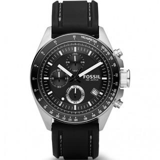 Reloj Fossil Decket CH2573IE para hombre con correa de silicona negra y esfera negra, 10 ATM
