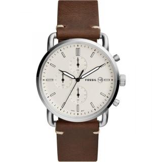 Reloj Fossil The Communter FS5402 para hombre con correa de piel marrón , 5 ATM