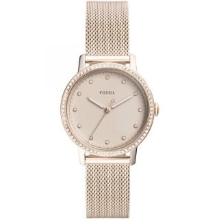 Reloj Fossil Neely ES4364 para mujer con correa milanesa rosa y esfera rosa con circonitas, 5 ATM