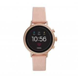 Reloj Fossil Venture Connect FTW6015 para mujer con correa de piel rosa, 3 ATM