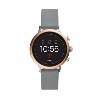 Reloj Fossil Venture Connect FTW6016 para mujer con correa de piel gris, 5 ATM