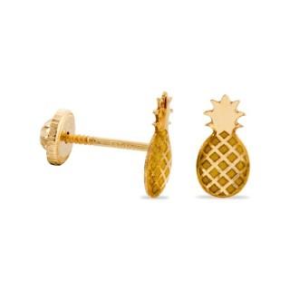 Pendientes de oro en forma de piña
