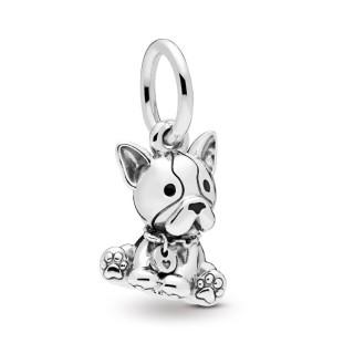 Charm Pandora 798008EN16 de plata colgante en forma de bulldog