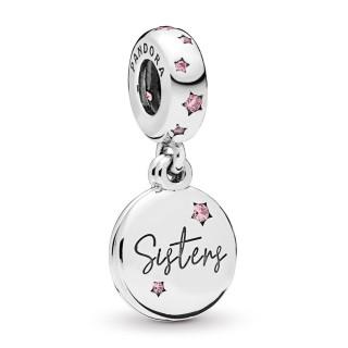 Charm Pandora 798012FPC de prata pendente irmãs para sempre