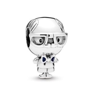 Charm Pandora 798013EN188 de plata en forma de abuelo con esmalte azul