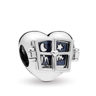 Charm Pandora 798006EN63 de plata en forma de corazón con ventana