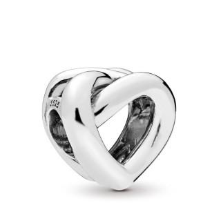 Charm Pandora 798081 de plata en forma de nudo y corazón