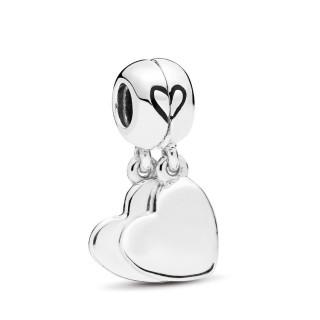 Charm Pandora 797777EN16 de prata pendente amor mãe & filho