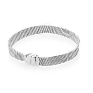 Pulseira Pandora 597712-17 de prata tipo milanesa, 17 cm