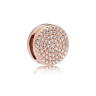 Charm Pandora Reflexions 787583CZ clip de prata rose com zircônia