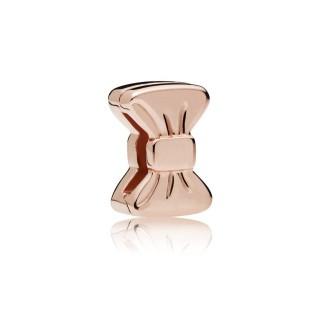 Charm Pandora Reflexions 787582 clip de prata rose em forma de laço