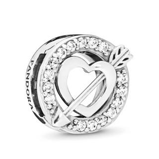 Charm Pandora Reflexions 797793CZ de plata en forma de corazón y flecha