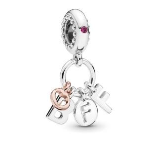 Charm Pandora 788165NCC BFF de prata rose pendente roxo