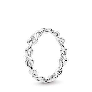 Anillo Pandora 198018 de plata en forma de corazones anudados