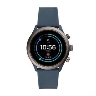 Reloj Fossil Connect FTW4021 para hombre con correa de silicona gris, 5 ATM