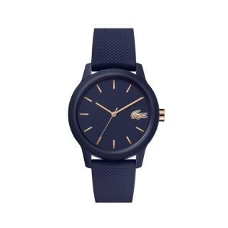 Reloj Lacoste 1212 para mujer 2001067 con correa de silicona azul, 5 ATM