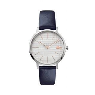 Reloj Lacoste Moon 2001077 para mujer con correa de cuero azul, 3 ATM