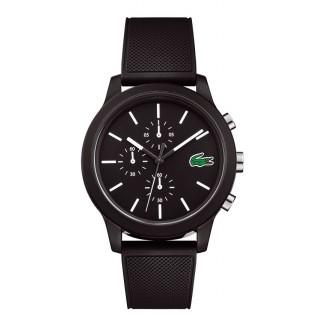 Reloj Lacoste 1212 para hombre 2010972 con correa de silicona negra, 5 ATM