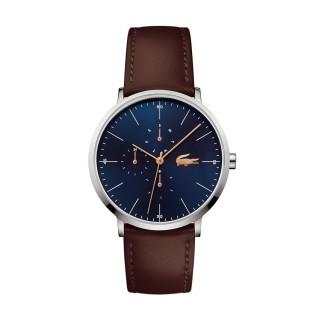 Reloj Lacoste Moon 2010976 para hombre con correa de cuero marrón, 3 ATM