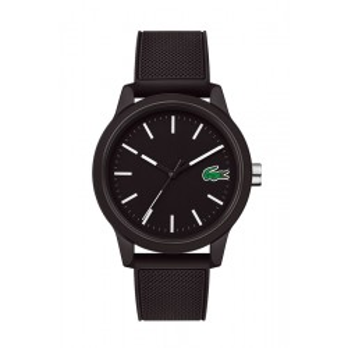 Reloj Lacoste 1212 para hombre 2010986 con correa de silicona negra, 5 ATM