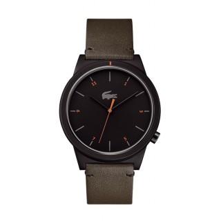 Reloj Lacoste Motion 2010991 para hombre con correa de cuero caqui, 5 ATM