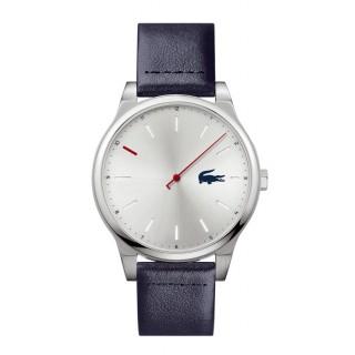 Reloj Lacoste Kyoto 2011000 para hombre con correa de cuero azul, 5 ATM