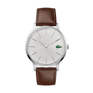 Reloj Lacoste Moon 2011002 para hombre con correa de cuero marrón, 3 ATM