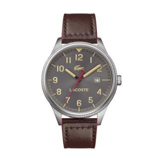 Reloj Lacoste Continental 2011020 para hombre con correa de cuero marrón, 5 ATM