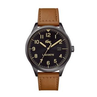 Reloj Lacoste Continental 2011021 para hombre con correa de cuero marrón, 5 ATM