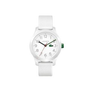 Reloj Lacoste 1212 Kids 2030003 con correa de silicona blanca, 5 ATM