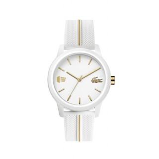 Reloj Lacoste 1212 para mujer 2001104 con correa de silicona blanca, 5 ATM