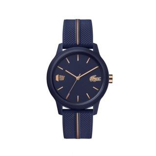 Relógio Lacoste 1212 para mulher 2001105 com pulseira de silicone azul , 5 ATM
