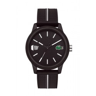Reloj Lacoste 1212 para hombre 2011044 con correa de silicona negra, 5 ATM