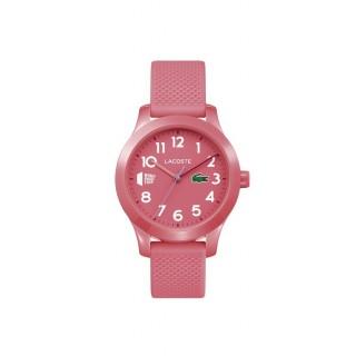 Reloj Lacoste 1212 Kids 2030023 con correa de silicona rosa, 5 ATM