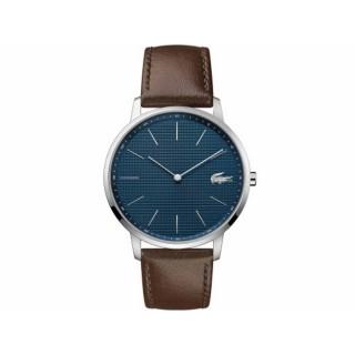 Reloj Lacoste Moon 2011003 para hombre con correa de cuero marrón, 3 ATM