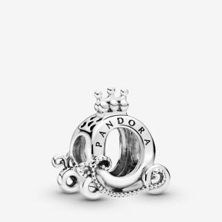 Charm Pandora 798323 de prata em forma de carroça e coroa