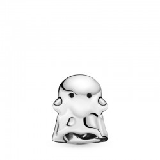 Charm Pandora 798340EN16 de prata em forma de Boo o fantasma