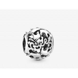 Charm Pandora 798354 de prata em forma de rainha e coroa