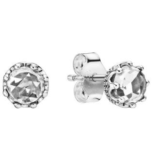 Pendientes Pandora 298311CZ de plata en forma de corona deslumbrante con circonita