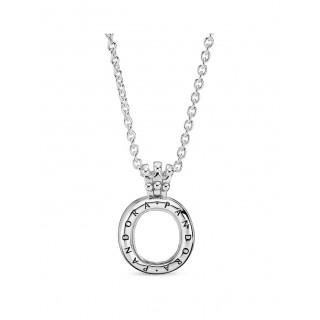 Colar Pandora 398332-60 Locket de plata en forma de corona O, 60 cm