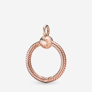Colgante Pandora 388296 de plata rosa en forma de O pequeño