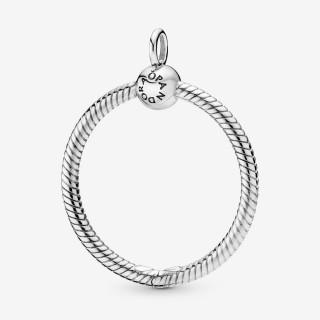 Pendente Pandora 398256 de prata em forma de O mediano