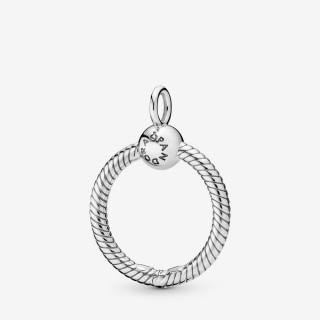 Pendente Pandora 398296 de prata em forma de O pequeno