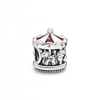 Charm Pandora 798435C01 de plata en forma de carrusel navideño